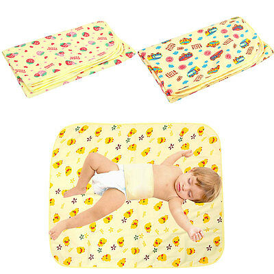 UK Cotton Waterproof Travel Baby Urine Pad Mat Changing Pad Cover Health Safety
