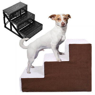 Dog Pet Stairs Cat Steps Indoor Ramp Folding Animal Ladder with Cover