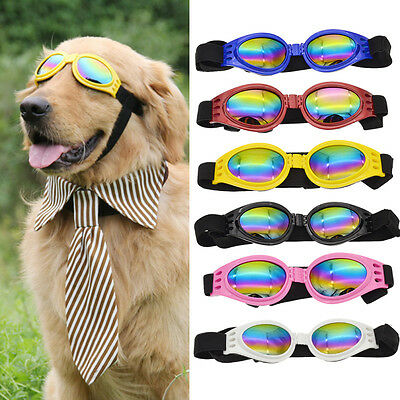 Cute Pet Dog Sun Glasses UV Sunglasses Goggles Eye Wear Protection Folding Gift