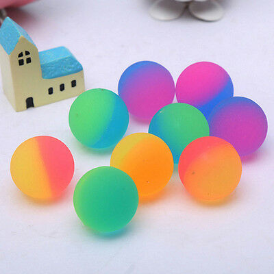 Transparent High Bouncing BallsDouble-color Grinding Ball Kids Toys Novelty GIft