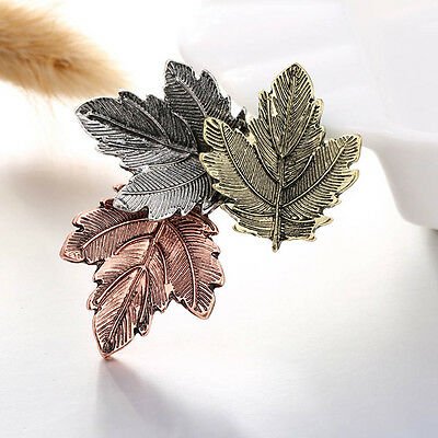 1pc Colorful Lady Jewelry Vintage Brooch Maple Leaf Brooches Pins Hot Sales