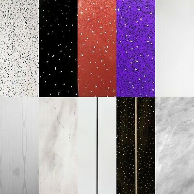 Black,White,Red,Purple,Grey Sparkle & Chrome Bathroom PVC Panels Wall Cladding