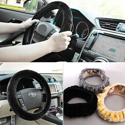 Car Steering Wheel Plush Cover Glove Comfy Foam Grip Universal Padded Design MK4