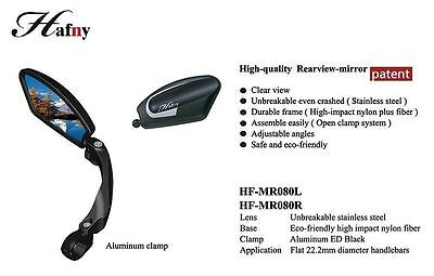 Hafny HF-MR080 Fully Adjustable Magic Bicycle Rear View Mirror - Left