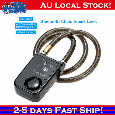Bluetooth Smart Bike Cycle Chain Lock Anti Theft Alarm Security For Smartphone