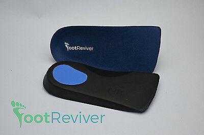 FootReviver™ PRO 3/4 Orthotic Insoles Arch Support Inserts Fallen Arches Flat