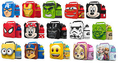 Official Cartoon Thermal 3D Lunch Bag Box And Drink Bottle Set
