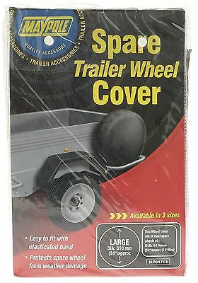 """Maypole Trailer Spare Wheel Cover 13"""" MP94713 Towing"""