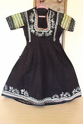 19C. Antique Bulgarian Folk Art Embroidered Traditional Costume Heavy Wool
