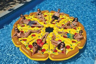 Inflatable Pizza Mattress Giant Pool Float Toy 180CM Bed Sunbathe Beach