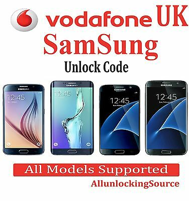 Vodafone UK Unlock Code Samsung Galaxy S8 S7 S6 S5 S4 S3 Note 4 Ace Fame Young