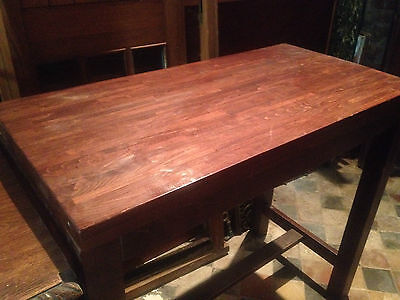 Vintage Chinese Polished Altar Table Sideboard Qing scholar painting Antique