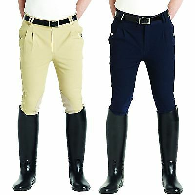 Caldene Ladies Showing Competition Knitted Suede Knee Patch Goplar Breeches