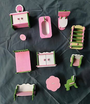 Dollhouse Doll House Furniture Miniature - LIKE NEW !  Toys Bulk Lot Wooden