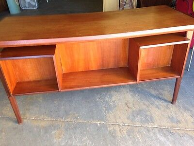 1950s 60s Kai Kristiansen Mid Century Modern TEAK Floating Top Desk Chicago