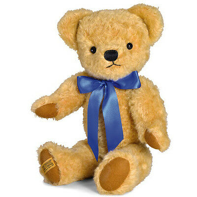Merrythought London Classic Curly Gold Teddy Bear with growler - 45cm - GM18CGG