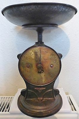 VINTAGE SALTER's No 50 FAMILY SCALE / CAST IRON AND BRASS DIAL