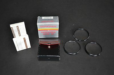 Quantaray 58mm Close-up +1 +2 +4 lens kit made in Japan with Case & Instructions
