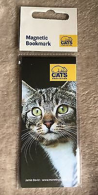 CATS PROTECTION TABBY CAT MAGNETIC BOOKMARK (Sold For Cats Protection)