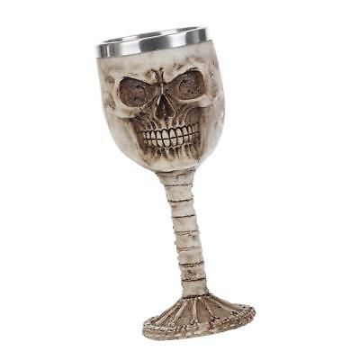 Gothic Resin Stainless Liner Insulated Goblet Skull Beer Mug Decorative Cup