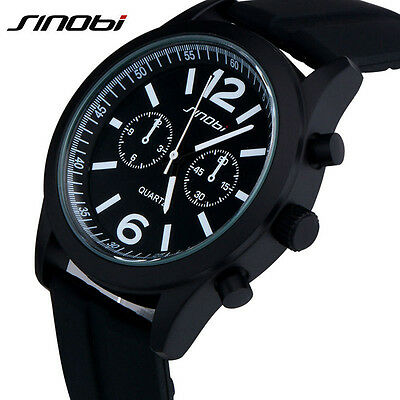 SINOBI Sport Watch Quarzuhr Herren Armbanduhr Silikon Teenage Boys Mode Uhren