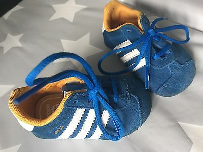 Baby Adidas Trainers Crib Soft Pram Shoes Infant Size 1