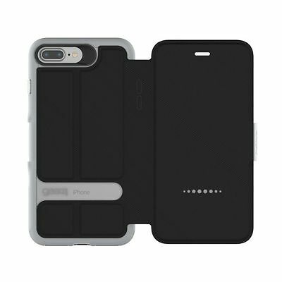 Gear4 Oxford Protective Slim Black Wallet Case for iPhone 7 Plus Black or Silver