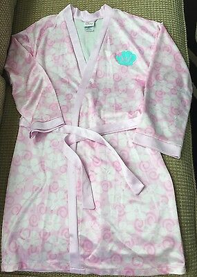 Girls 10 12 Ariel Robe The Little Mermaid Floral Swim Cover-up Housecoat