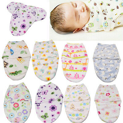 Baby Swaddle Wrap Newborn Infant Baby Soft Bedding Blanket Cotton Sleeping Bag