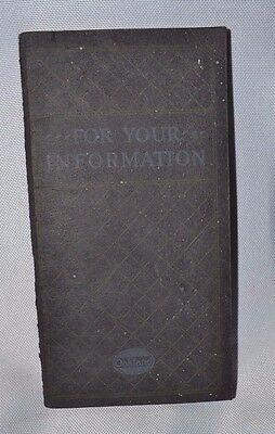 Vintage 1920's Oakland Motor Car Co. Booklet - For Your Information