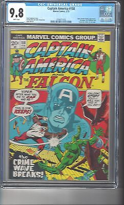 Captain America #158 CGC 9.8 White Pages Highest Graded Copy