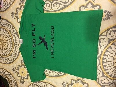 Custom Made, Disney, Neverland, Boys or Girls size Youth Small T-Shirt