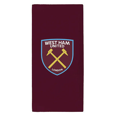 West Ham United Fc Crest Towel Bath Beach Gym Swim 100% Cotton New Xmas Gift