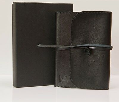 Quality Black Leather Address Book, Boxed, Great Father's Day or Birthday Gift