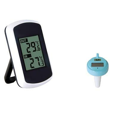 Wireless Indoor Temperature and Floating Swimming Pool and Spa Thermometer