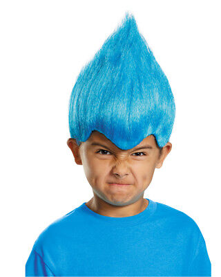 Child's Pointy Wacky Troll Inside Out Blue Wig Costume Accessory