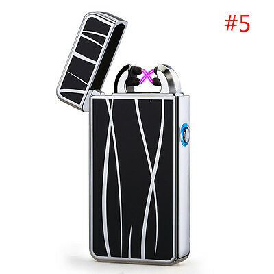 Rechargeable Electric Dual Arc USB Plasma Pulse Lighter Windproof Flameless #5