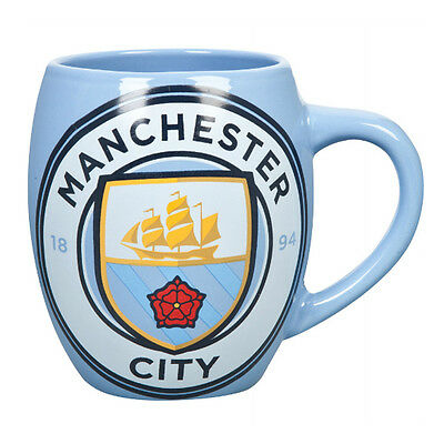 Manchester City Fc Tea Tub Ceramic Coffee Mug Cup In Clear Gift Box New Xmas