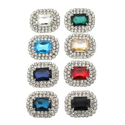 1 Pc Classic Crystal Rhinestone Shoes Clips Removable Shoe Decoration DIY Retro