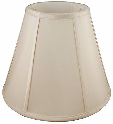 """American Pride ROUND EMPIRE LAMPSHADE Soft Tailored, LIGHT BEIGE- 8x12"""" or 6x12"""""""