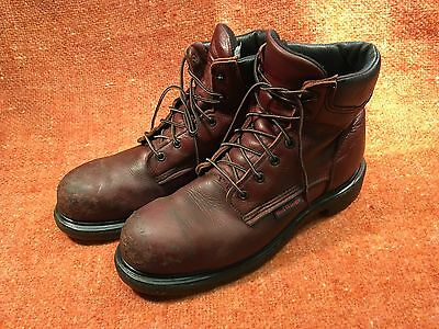 c3a0dff194a MEN'S RED WING 2406 Brown Leather EH Steel Toe Work & Safety Boots ~ USA  10.5 D