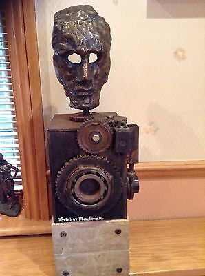 Large Modern Art Abstract/Industrial Head Sculpture