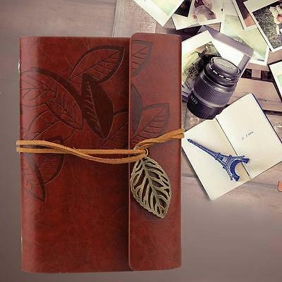 170 Pages PU Cover String Bound Blank Paper Notebook Travel Journal Diary Jotter