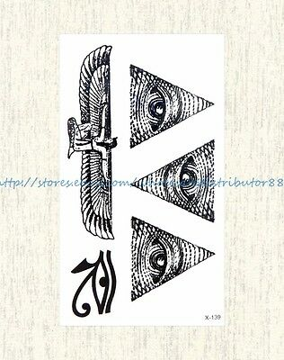US SELLER, ancient Egyptian eye of Horus temporary tattoo sticker body art sexy