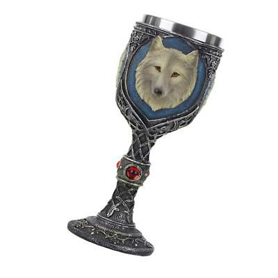 Resin Stainless Liner Insulated Goblet 3D Wolf Beer Mug Decorative Wine Cup