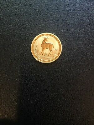 2003 Australia Gold 1/4 oz 25 dollars  year of the goat Lunar series Very Rare
