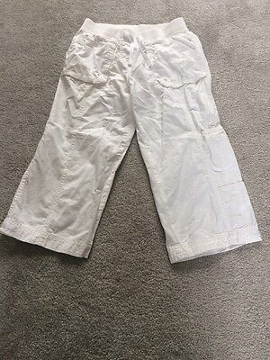 Next Trousers Girl Age 11 White Linen