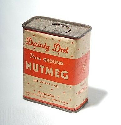 Vintage DAINTY DOT Nutmeg Tin - 2 ounce