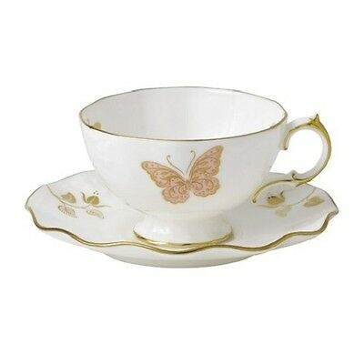 New Royal Crown Derby 2nd Quality Butterfly Tea Cup & Saucer