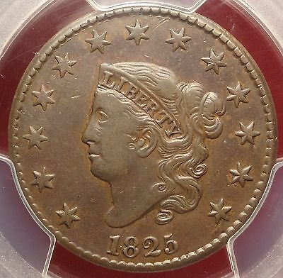 PCGS XF45 1825 Large Cent N-6 1c Variety